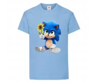 Футболка детская Соник с цветком (SONIC) голубая (snc  sbl-9) 104 см