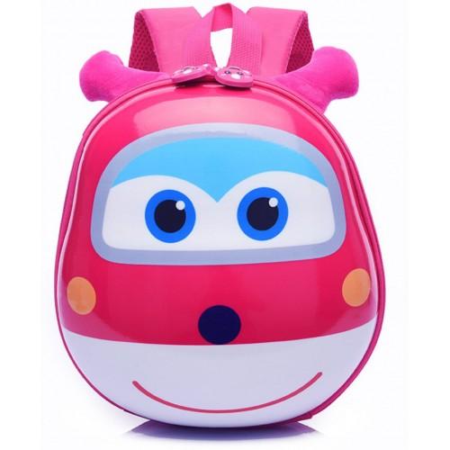 Рюкзак Cappuccino Toys Pre-school 3D дошкольный Super Wings Супер Вингс Супер крылья плотный корпус розовый (CT-V-07pink)