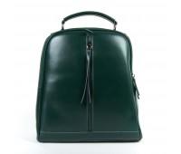 Рюкзак женский кожаный Alex Rai 9-01 8694-3 зеленый