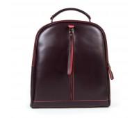 Рюкзак женский кожаный Alex Rai 9-01 8694-3 бордовый