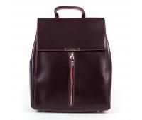 Рюкзак женский кожаный Alex Rai 9-01 373 бордовый