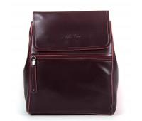 Рюкзак женский кожаный Alex Rai 9-01 1005 бордовый