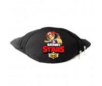 Сумка Бананка на пояс Бравл Старс Brawl Stars Поко Пират  (BS-012) Cappuccino Toys черная