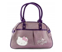 Сумка Hello Kitty для девочек трапеция фиолетовая с блеском (HK-02-viol-tr)