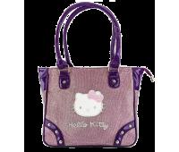 Сумка Hello Kitty для девочек большая прямоугольная фиолетовая с блеском (HK-03B-viol)
