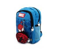 Рюкзак Aimina Spiderman Человек Паук  5208 дошкольный с кошельком голубой (A-Sm02-L-blue)