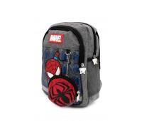 Рюкзак Aimina Spiderman Человек Паук 5208 дошкольный с кошельком серый (A-Sm04-grey)