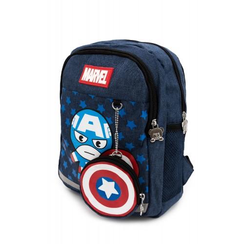 Рюкзак Aimina Capitan America Капитан Америка  5208 дошкольный с кошельком темно-синий (A-CA06-navy)