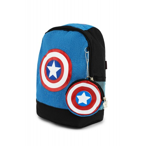 Рюкзак Aimina Capitan America Капитан Америка  5206 дошкольный с кошельком голубой (A-CA07-L-blue)