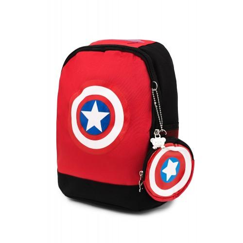Рюкзак Aimina Capitan America Капитан Америка  5206 дошкольный с кошельком красный (A-CA08-red)