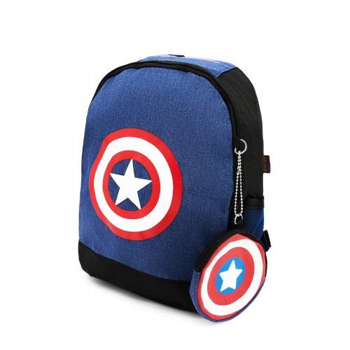 Рюкзак Aimina Capitan America Капитан Америка  5206 дошкольный с кошельком светло-синий (A-CA10-blue)