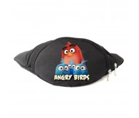 Сумка Бананка Энгри Бердс на пояс Cappuccino Toys Angry Birds RED черная