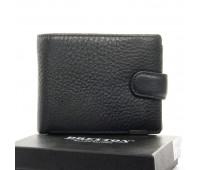 Кошелек BRETTON M3603 мужской кожаный черный
