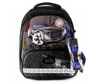 Рюкзак-ранец DeLune 9-119 школьный ортопедический с 3D изображением черно-синий (DL-9-119)