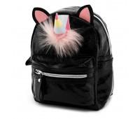 Рюкзак Fantasy Accessories Единорог с ушками для девочек черный (FA-bl-Unicorn)