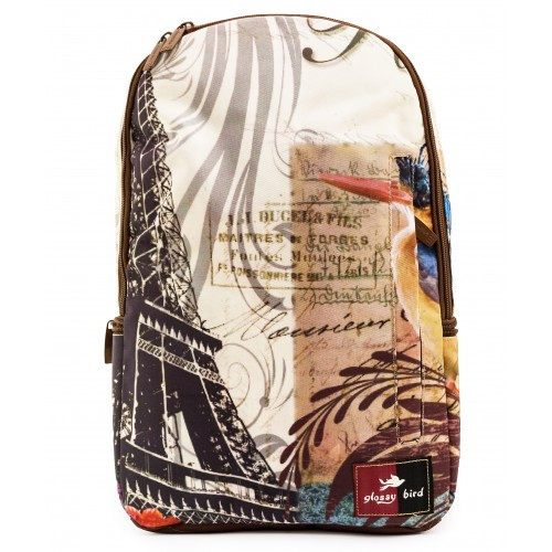Рюкзак Glossy Bird GB1804 ортопедический школьный с отсеком для ноутбука коричневый (GB-04-paris-brown)