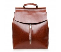 Рюкзак  ALEX RAI 7-02 3206 женский кожаный коричневый