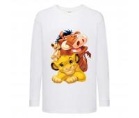 Лонгслив реглан Король Лев 3 (Lion King) белый (LK wh 003) 152 см