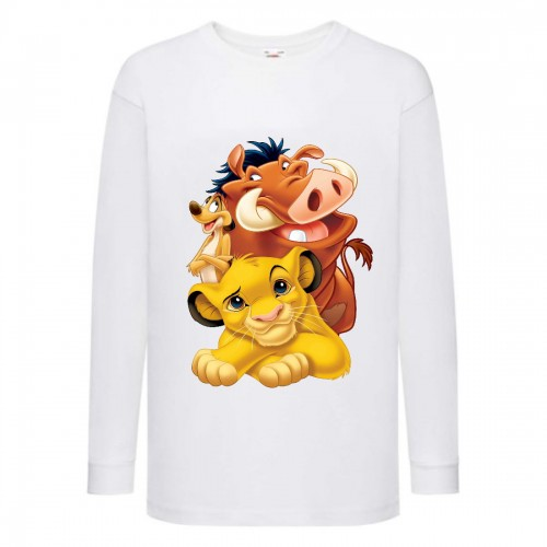 Лонгслив реглан Король Лев 3 (Lion King) белый (LK wh 003) 140 см