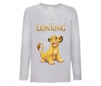 Лонгслив реглан Король Лев 2 (Lion King) серый (LK gr 002) 116 см