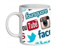 Кружка Социальные Сети SuperCup (чашка-SC-CC004-1)