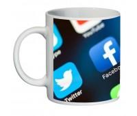 Кружка Социальные Сети SuperCup (чашка-SC-CC004-3)