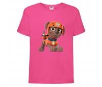 Футболка детская Щенячий патруль (Paw Patrol) розовая (zuma-pink) размер 104 см