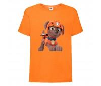 Футболка детская Щенячий патруль (Paw Patrol) оранжевая (zuma-orange) размер 104 см