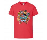 Футболка детская Щенячий патруль (Paw Patrol) красная (all-puppies-red) размер 104 см