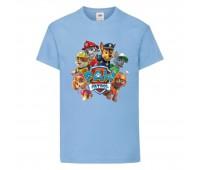 Футболка детская Щенячий патруль (Paw Patrol) светло-голубая (all-puppies-blue) размер 104 см