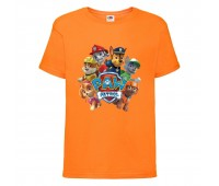Футболка детская Щенячий патруль (Paw Patrol) оранжевая (all-puppies-orange) размер 104 см