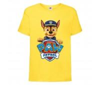 Футболка детская Щенячий патруль (Paw Patrol) желтая (racer-yellow) размер 104 см