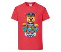 Футболка детская Щенячий патруль (Paw Patrol) красная (racer-red) размер 104 см