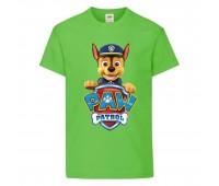 Футболка детская Щенячий патруль (Paw Patrol) светло-зеленая (racer-green) размер 104 см