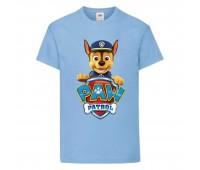 Футболка детская Щенячий патруль (Paw Patrol) светло-голубая (racer-blue) размер 104 см