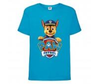 Футболка детская Щенячий патруль (Paw Patrol) голубая (racer-blue) размер 128 см