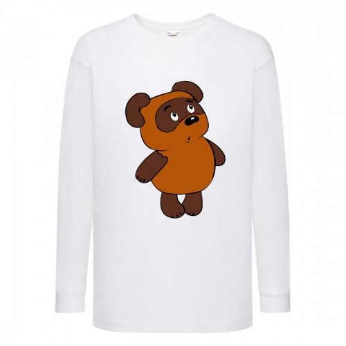 Лонгслив реглан Винни Пух 008 (Winnie Pooh) белый (WP wh 008) 128 см