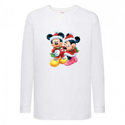 Лонгслив реглан Микки Маус 009 (Mickey Mouse) белый (MMS wh 009) 140 см