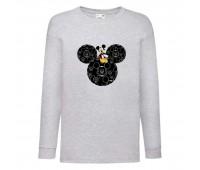 Лонгслив реглан Микки Маус 008 (Mickey Mouse) серый (MMS gr 008) 116 см