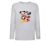 Лонгслив реглан Микки Маус 009 (Mickey Mouse) серый (MMS gr 009) 116 см