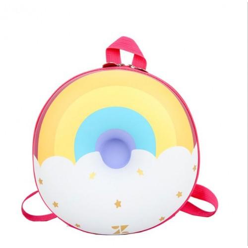 Рюкзак дошкольный Cappuccino Toys Радуга 3D-7743 круглый розовый