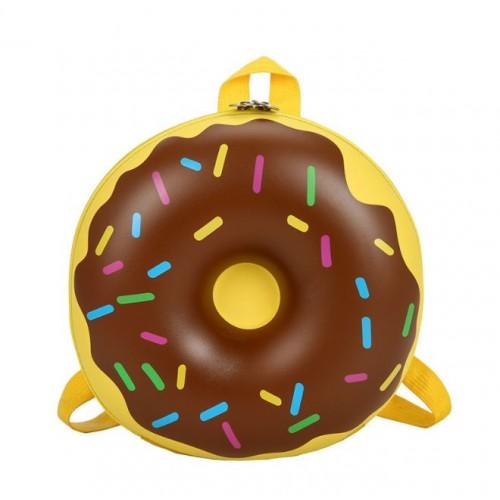 Рюкзак дошкольный Cappuccino Toys Пончик 3D-7743 круглый желтый