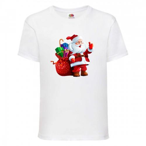 Футболка детская Новый Год (New Year) белая (0003-white) размер 140 см