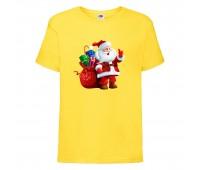 Футболка детская Новый Год (New Year) желтая (0003-yellow) размер 104 см