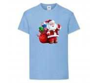 Футболка детская Новый Год (New Year) светло-голубая (0003-blue) размер 104 см