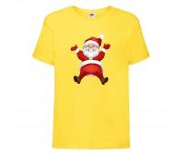 Футболка детская Новый Год (New Year) желтая (0007-yellow) размер 104 см