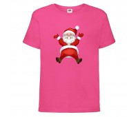 Футболка детская Новый Год (New Year) розовая (0007-pink) размер 104 см