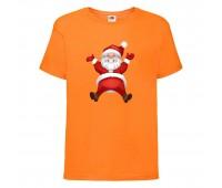 Футболка детская Новый Год (New Year) оранжевая (0007-orange) размер 104 см