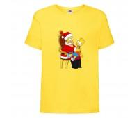 Футболка детская Новый Год (New Year) желтая (0009-yellow) размер 104 см