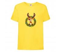 Футболка детская Новый Год (New Year) желтая (0014-yellow) размер 104 см